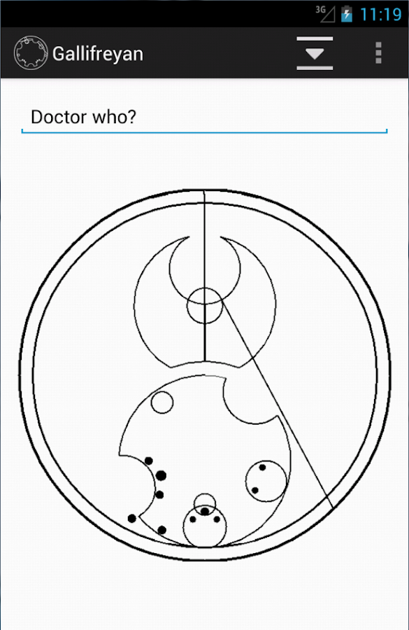 Gallifreyan Translator- screenshot