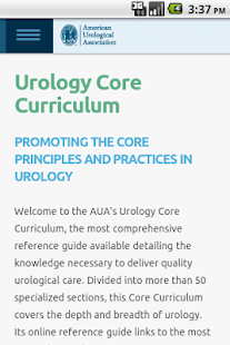 AUA Core Curriculum Mobile - screenshot thumbnail