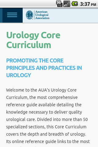 AUA Core Curriculum Mobile - screenshot