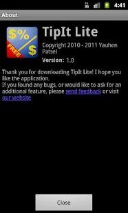 TipIt Lite- screenshot thumbnail