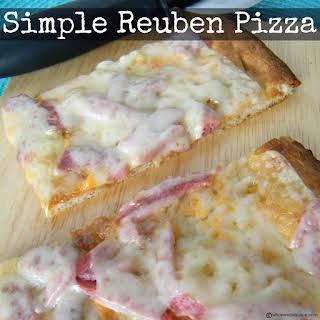 Simple Reuben Pizza.