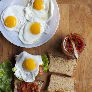 Fried Egg Sandwiches with Bacon-Tomato Jam