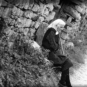 All is fleeting by Lazar Manojlovic - People Portraits of Women ( old women )