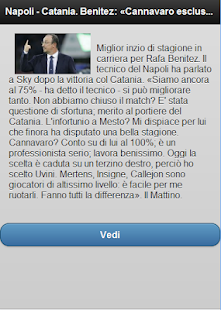 Calcio Napoli - Feed Rss - screenshot thumbnail