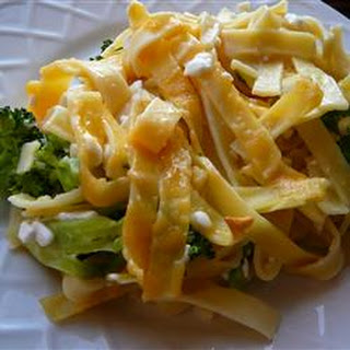 Broccoli Noodles and Cheese Casserole.
