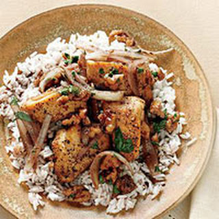Pomegranate Chicken with Walnuts.