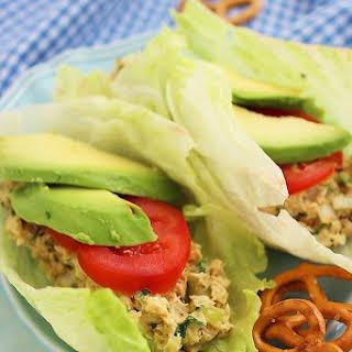 Avocado Tuna Salad Lettuce Wraps.