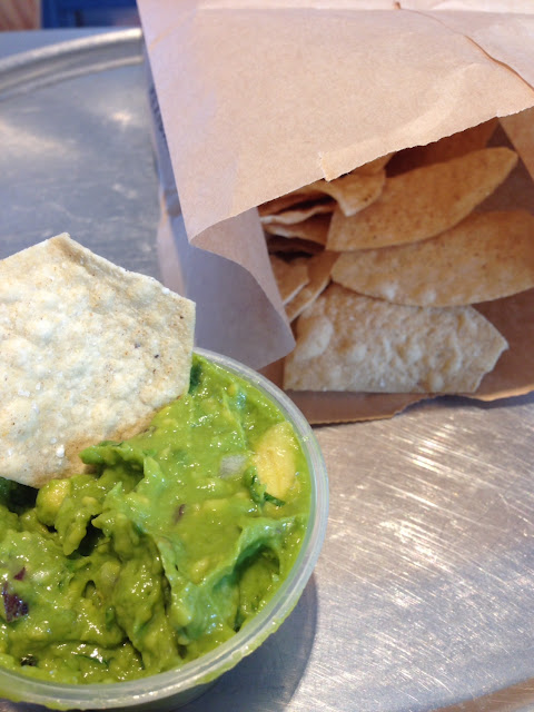 Fresh chips and guacamole