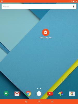 BatterySaver System Shortcut - screenshot