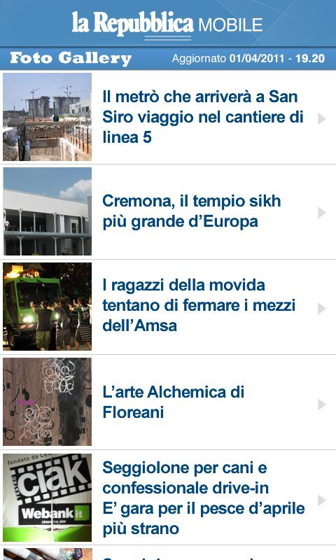 la Repubblica Mobile - screenshot