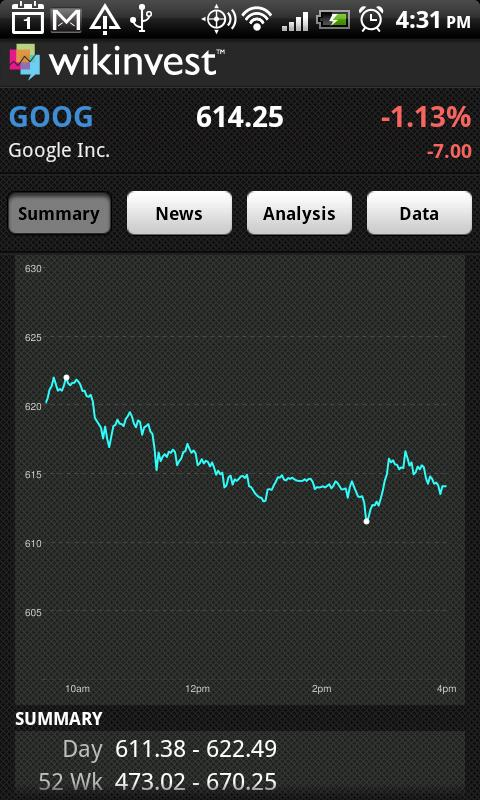 Wikinvest Portfolio (Ad-Free) - screenshot