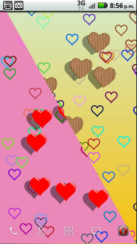Colorful hearts- screenshot