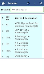 Bangalore BMTC Info - screenshot thumbnail