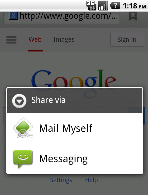 Mail Myself- screenshot
