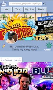 press like - מסך