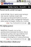 Screenshot of MyMetro - Malaysia