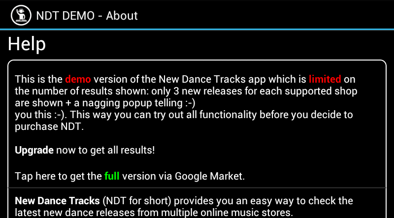 New Dance Tracks Demo - screenshot