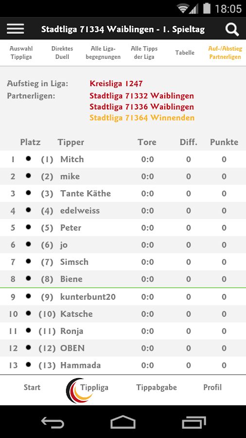 Memoliga, die Tippliga- screenshot