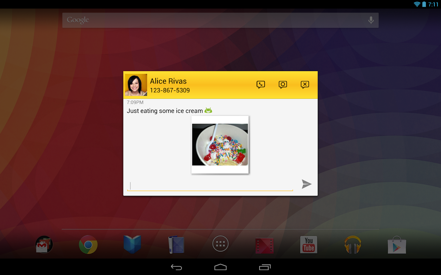 Tablet Talk: SMS & Texting App- screenshot