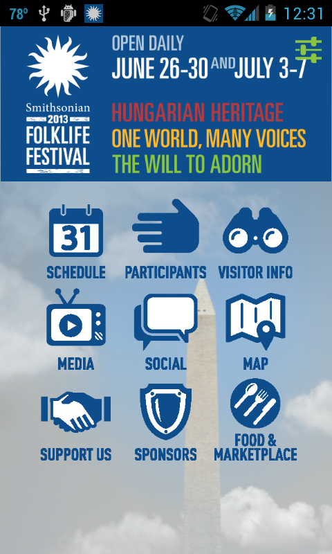 Smithsonian Folklife Festival - screenshot