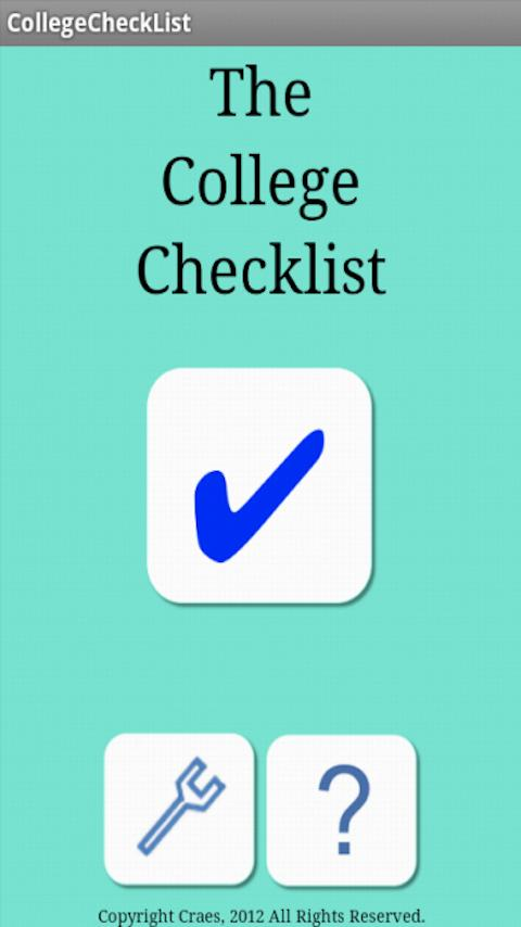 The College Checklist- screenshot