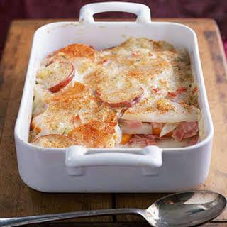 Scalloped Potatoes and Ham.