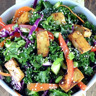 Asian Kale & Tofu Salad.