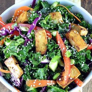Asian Kale & Tofu Salad.