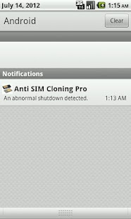 Anti SIM Cloning - screenshot thumbnail