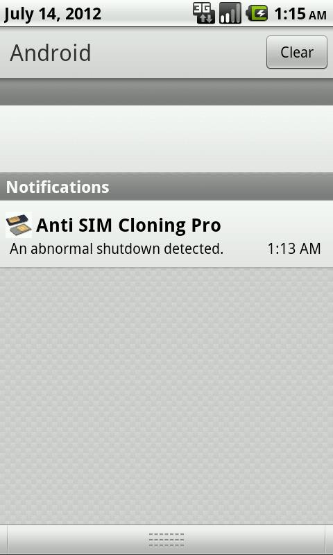 Anti SIM Cloning - screenshot