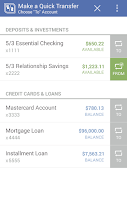 Screenshot of Fifth Third Mobile Banking