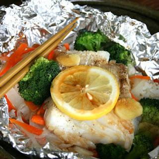 Ginger Lemon Cod Meal in Foil.