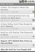 Screenshot of SimpleNews