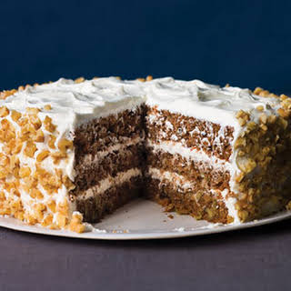 Spiced Apple Carrot Cake with Goat Cheese Frosting.