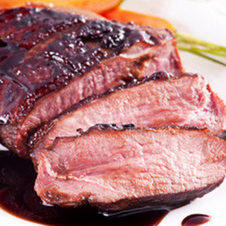 Breast of Duck with Plum Sauce.