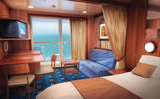 Norwegian-Star-stateroom-Mini-Suite - Stay in Norwegian Star's Mini-Suite, and you can enjoy the ocean views right from your bed or private balcony.