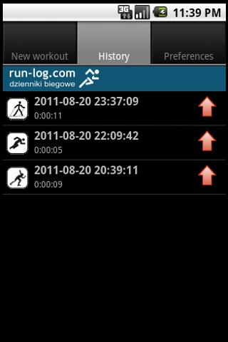 Running tracker - Run-log.com - screenshot