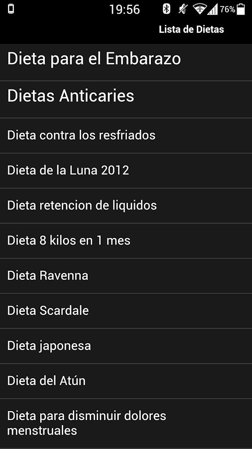 Dietas para bajar de peso - screenshot
