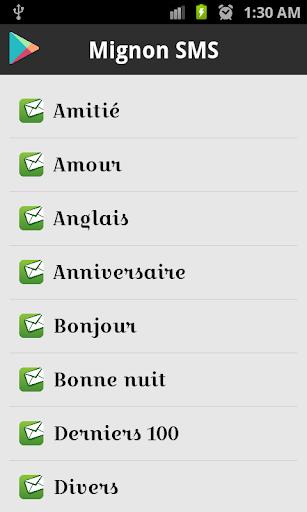 1000 + Mignon SMS Française