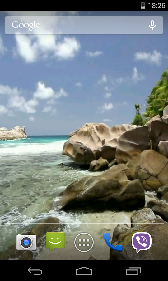 Beautiful beach Video LWP - screenshot