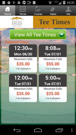Mountain Falls Golf Tee Times