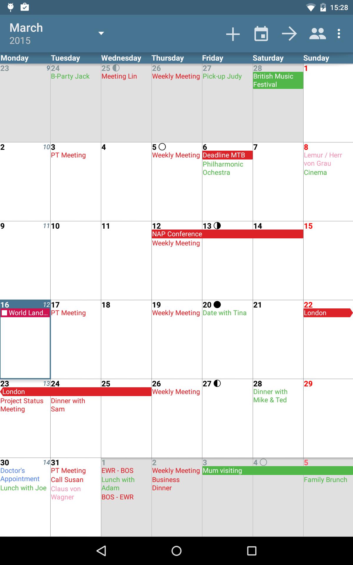 aCalendar+ Calendar & Tasks screenshot #12