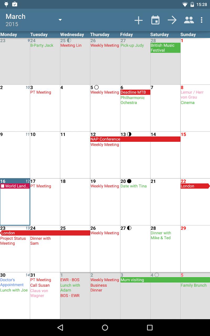 aCalendar+ Calendar & Tasks Screenshot 10