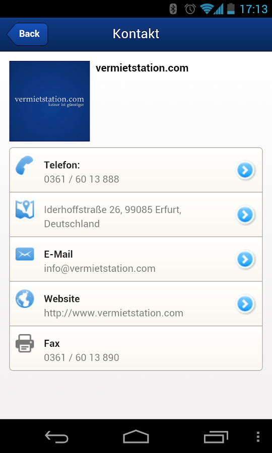 Vermietstation - screenshot