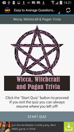 Witchcraft Wicca Pagan Quiz