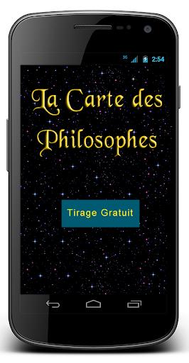 La carte des Philosophes