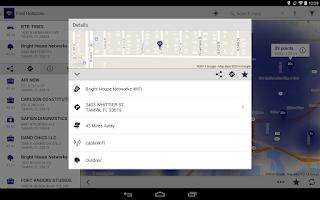 Screenshot of BHN WiFi Finder