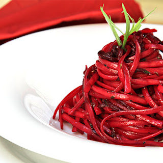 Linguini With Pan-roasted Beets, Fresh Tarragon And Caraway