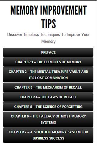 【免費健康App】MEMORY IMPROVEMENT TIPS-APP點子