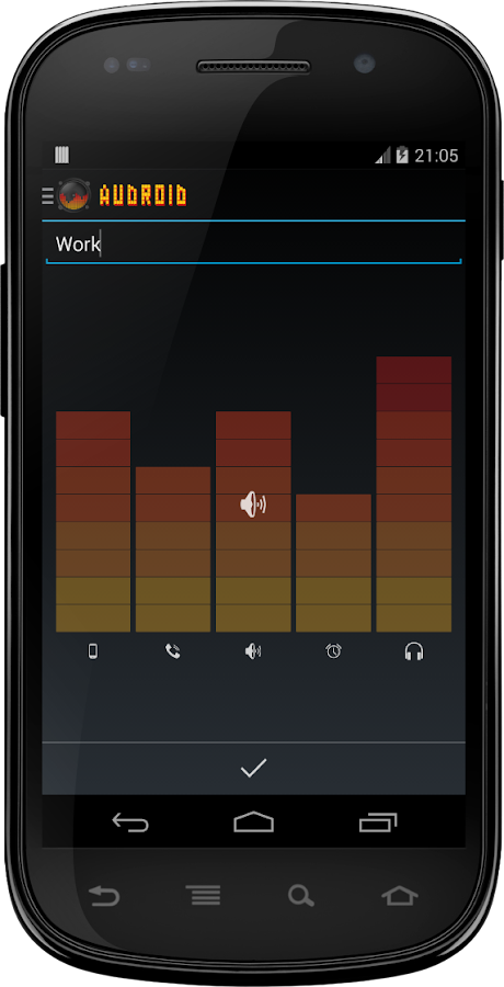 Audroid the AudioManager - screenshot